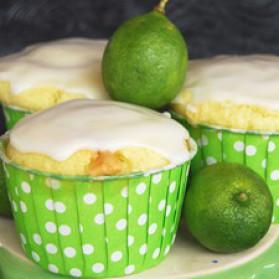 Muffins à la lime key et chocolat blanc pour 12 personnes