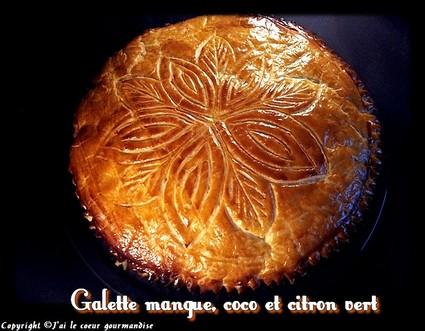 Recette de galette mangue, coco et citron vert