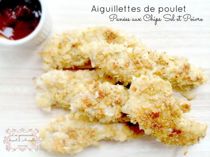 Recette aiguillettes de poulet panées aux chips sel et poivre