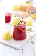 Verrines de smoothie poivron rouge, tomates et betterave