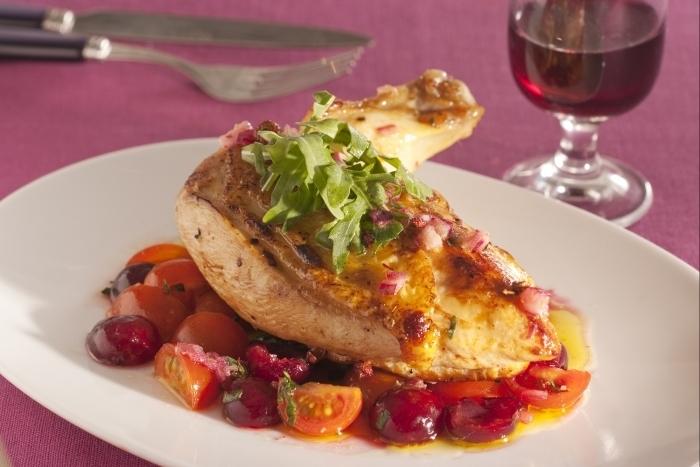 Recette de suprême de poulet mariné-rôti, condiment jubilé de ...