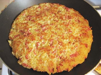Recette de galette de pommes de terre aux lardons