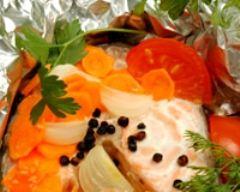 Recette papillotes de saumon aux carottes et tomates