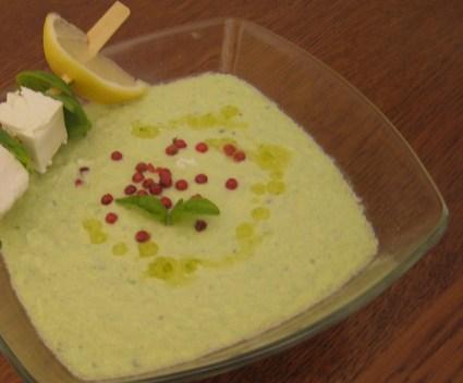 Recette de soupe froide concombre et fêta