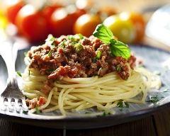 Recette les spaghettis a la bolognaise