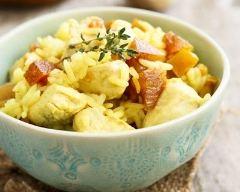 Recette salade de poulet au riz et pamplemousse