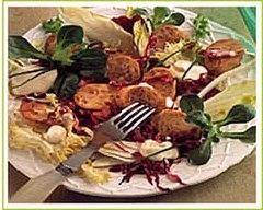 Recette salade au boudin blanc truffé