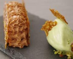 Recette mousse au chocolat et glace pistache express