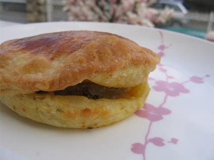Recette de feuilletés de foie gras aux pommes
