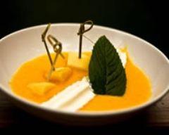 Recette sucettes de pomme d'amour, soupe de mangue et mousse ...