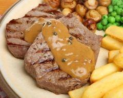 Recette steak au poivre vert