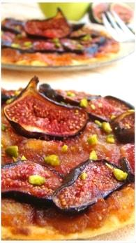 Recette de tarte fine aux figues et aux pommes