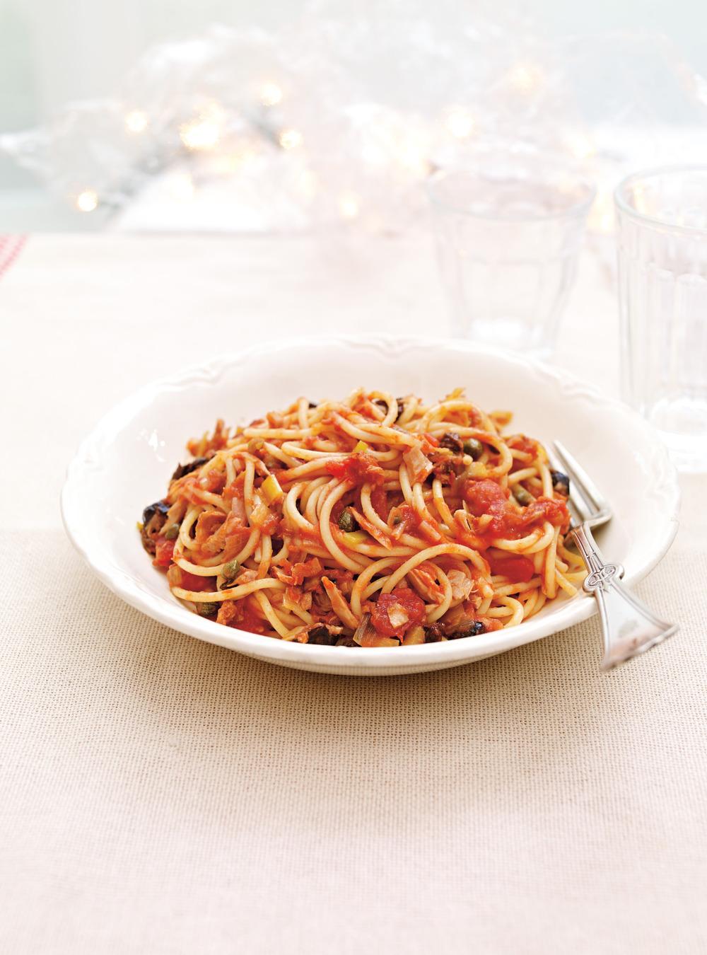 Spaghettis express à la tomate et au thon | ricardo