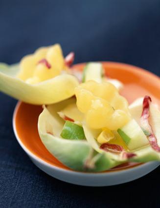 Recette de salade de trévise aux pommes râpées