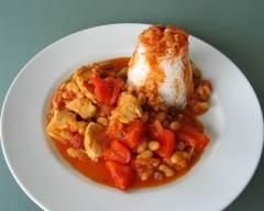 Recette mijoté de poulet et poivrons aux agrumes pauvre en sel