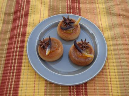 Recette de minis savarins de pain d'épice au confit de clémentine ...
