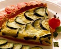 Recette tarte aux courgettes et basilic