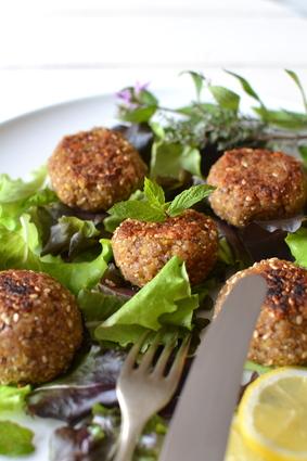 Recette de falafels végétaux aux courgettes et sarrasin