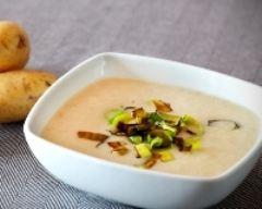 Recette soupe aux pommes de terre, poireaux et champignons