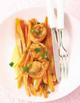 Pétoncles et carottes épicées au gingembre pour 4 personnes ...