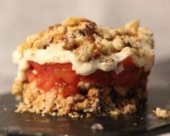 Recette tiramisu aux tomates, chèvre et châtaignes