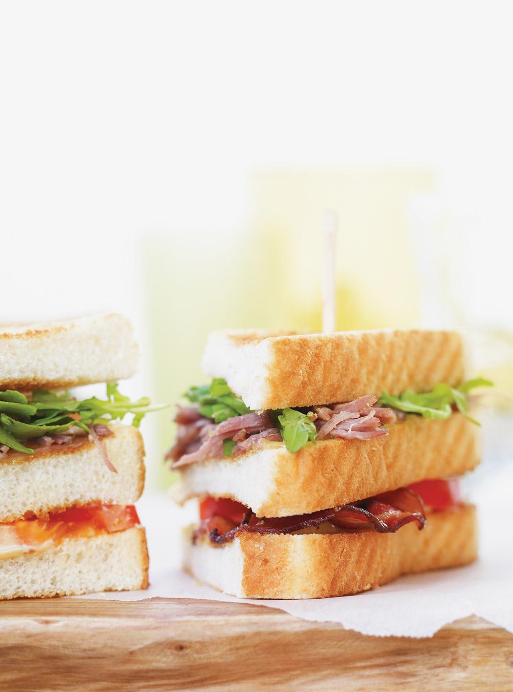Club sandwich de canard confit   ricardo