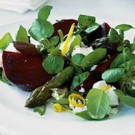 Salade de betteraves, feta et asperges pour 6 personnes