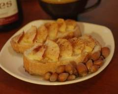 Recette tartines aux pommes et à la cannelle