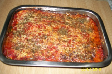 Recette de hachis de courgettes aux oignons et tomate