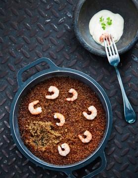 Couscous de quinoa aux gambas et à l'aïoli pour 4 personnes ...