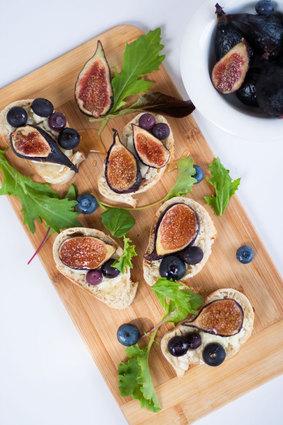 Recette de toasts au fromage de chèvre et aux figues