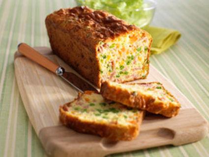 Recette de cake au jambon et petits légumes
