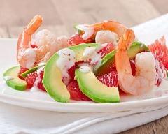 Recette salade exotique aux crevettes