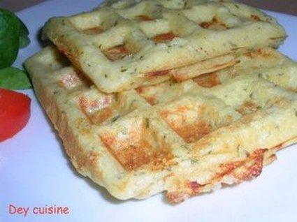 Recette de gaufres salées aux pommes de terre et persil