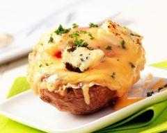 Recette pommes de terre farcies au jambon et gruyère au four ...