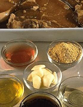 Côtes de porc au soja pour 6 personnes