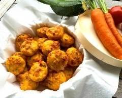 Recette muffins apéritifs aux lardons et petits légumes