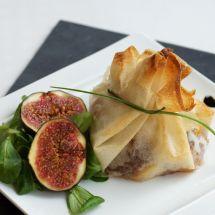 Croustillant de magret de canard au foie gras et figues