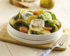 Recette salade de ratte du touquet et chèvre chaud