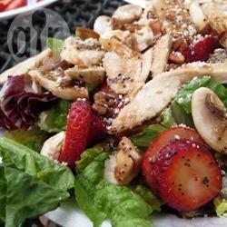 Recette salade de verdure aux fraises et vinaigrette au pavot ...