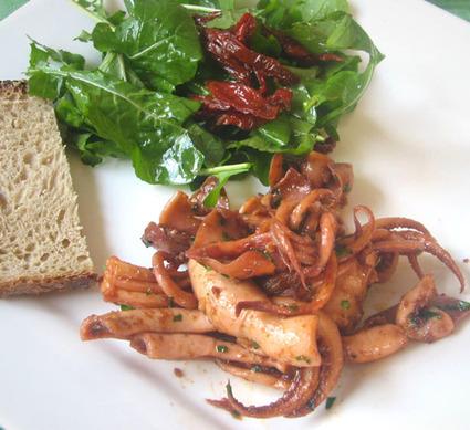 Recette de calamars en persillade épicée