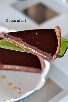 Tarte au chocolat et au caramel au beurre salé