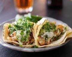 Recette tacos au poisson, coleslaw facile et coriandre