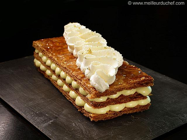 Mille-feuille vanille  la recette illustrée  meilleurduchef.com