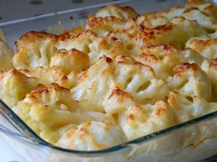 Recette de grtain de chou-fleur, pommes de terre et parmesan
