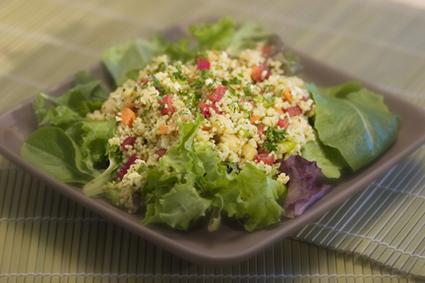 Recette de salade de couscous aux figues et au persil