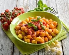 Recette gnocchis en sauce pimentée