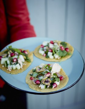Tacos façon socca au thon et fines herbes pour 4 personnes ...