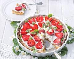 Recette tarte sablée aux fraises et à la chantilly