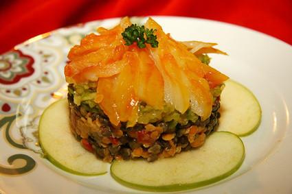 Recette de salade de haddock aux lentilles et pommes vertes